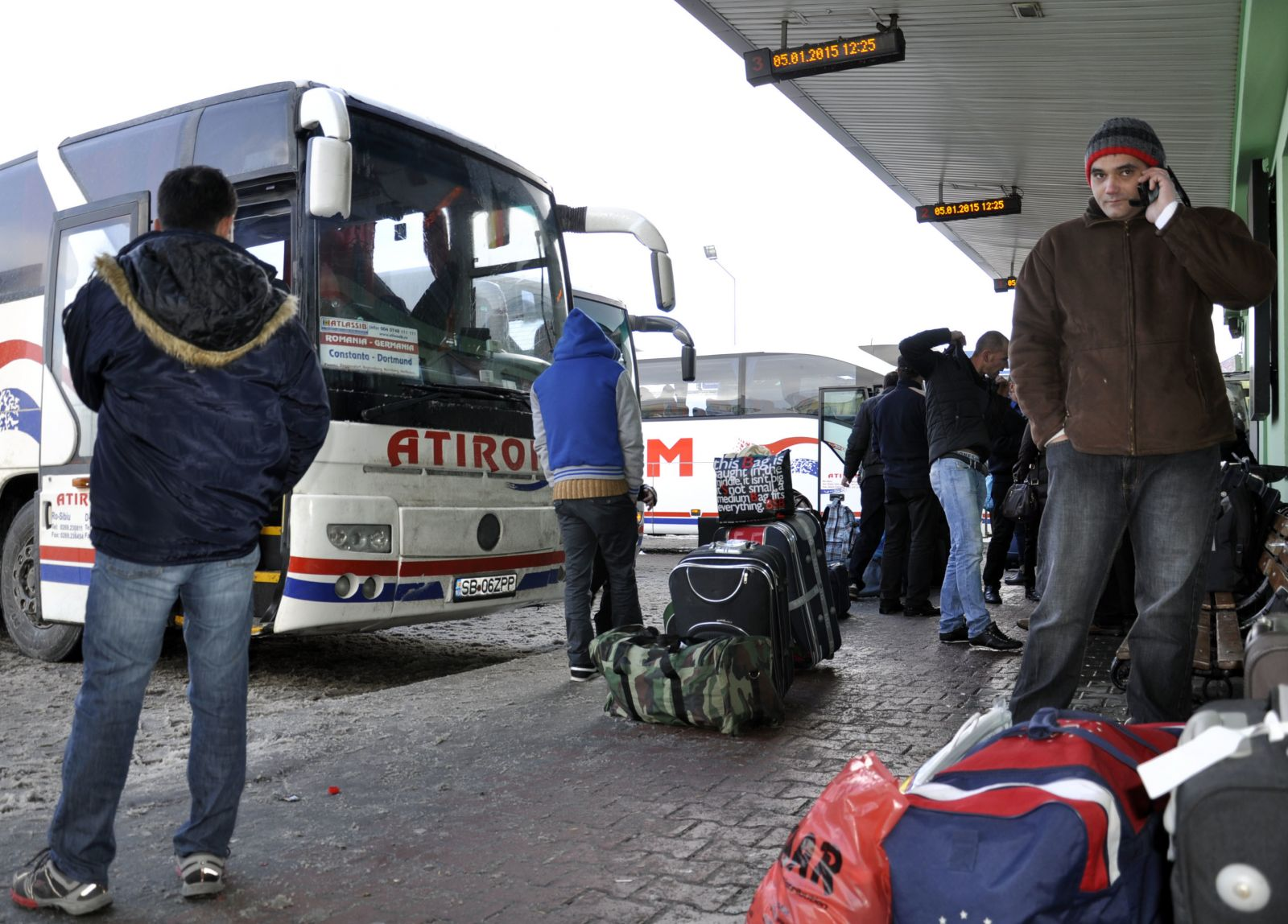Román vendégmunkások | Forrás: Agerpres