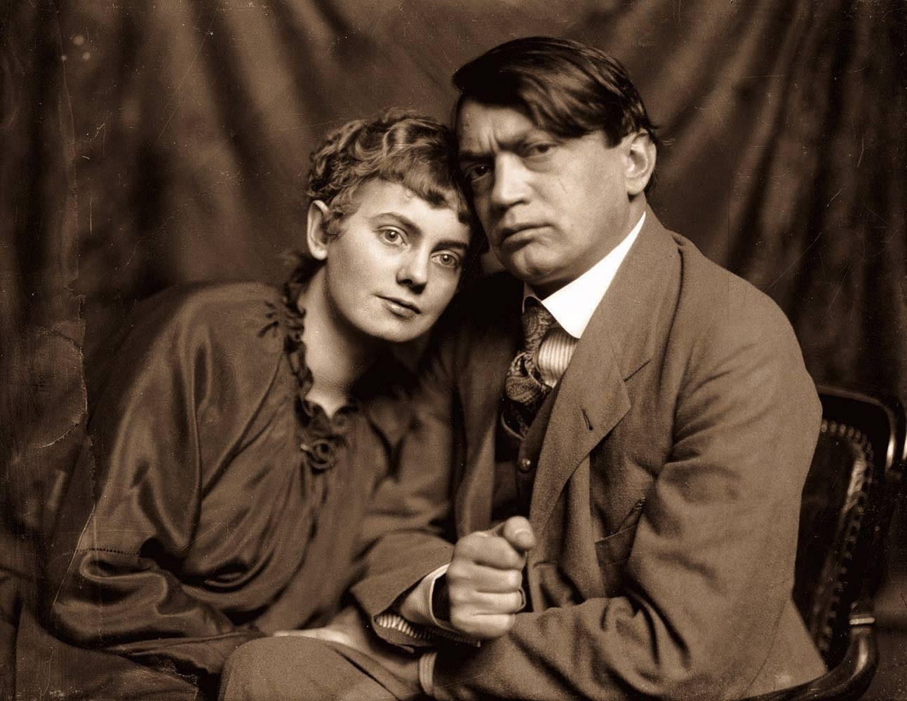 Ady és Csinszka. Székely Aladár felvétele