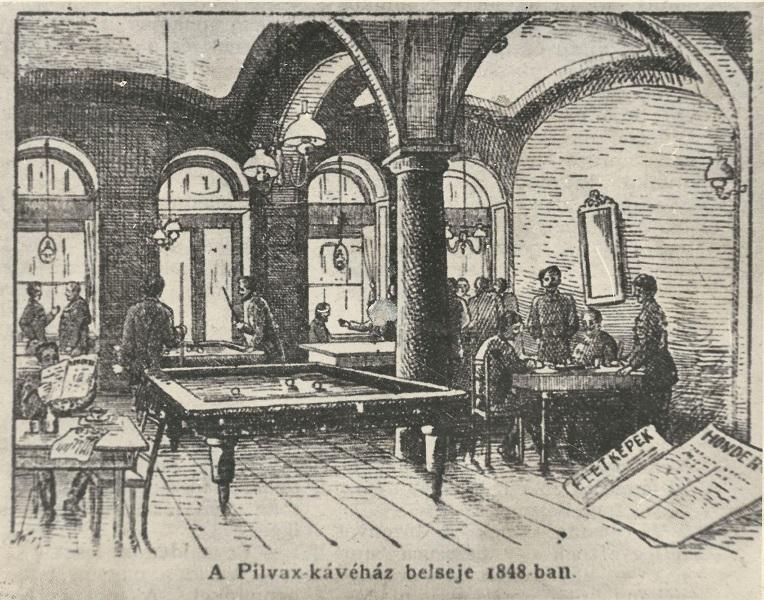 Biliárd asztalok a Pilvaxban. Petőfinek is, Jókainak is megvolt a maga dákója | Forrás : MaNDA