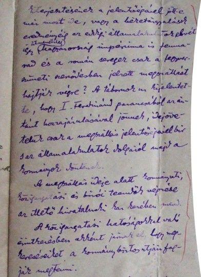 Részlet a Dumitru Nicolescu tábornokkal, a 2. Vadászdandár parancsnokával folytatott tárgyalásokból | Forrás: Paál Árpád Kézirathagyatéka