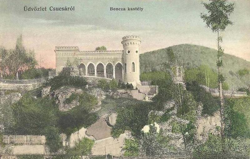 A Boncza kastély, mielőtt Octavian Goga átépíttette volna