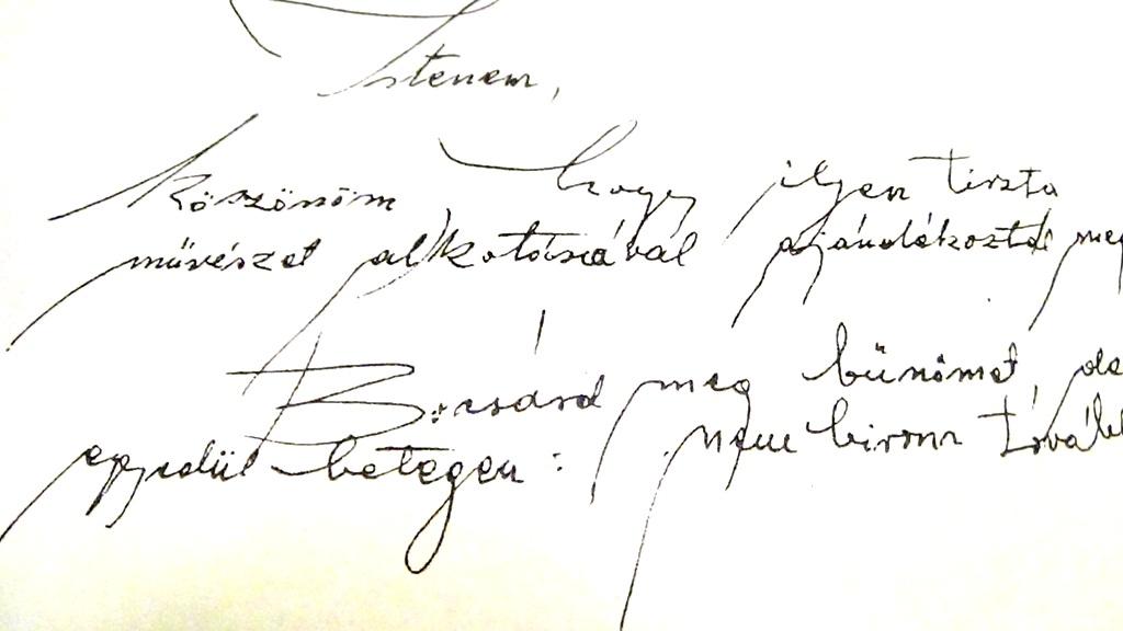 Györkös Mányi Albert utolsó levele, melyet 1993. május 26-án írt. Az eredeti a GyMAE tulajdona