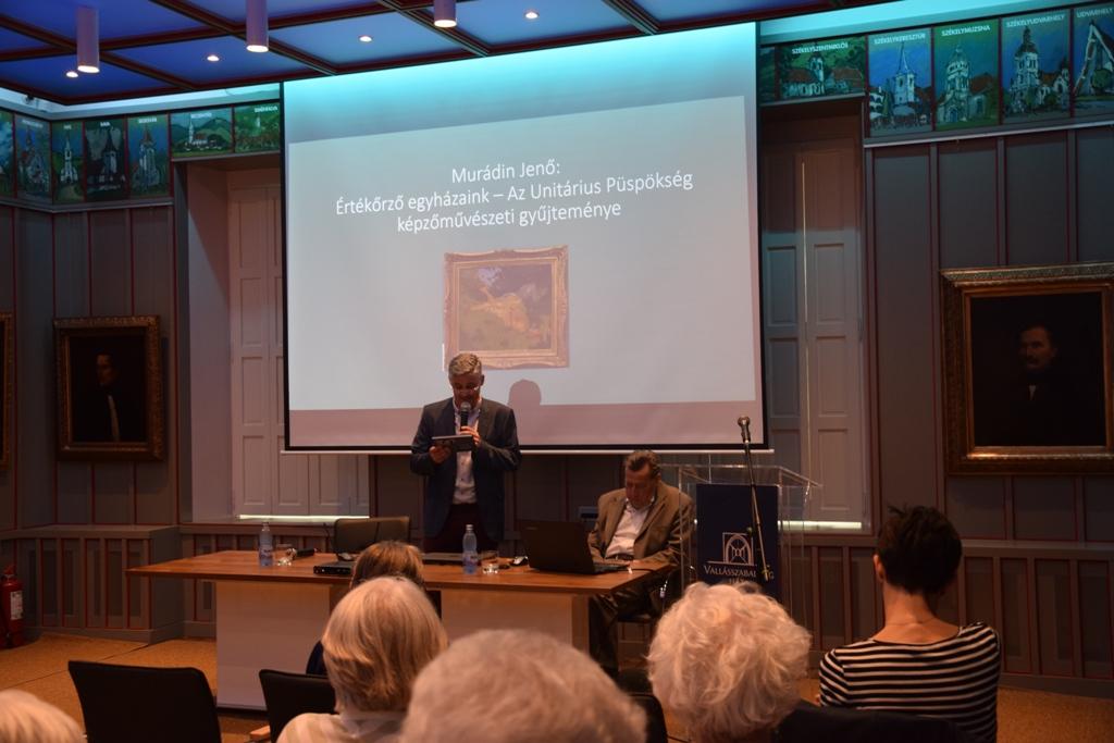 Furu Árpád bemutatja az est előadóját, Murádin Jenőt. A szerző felvételei