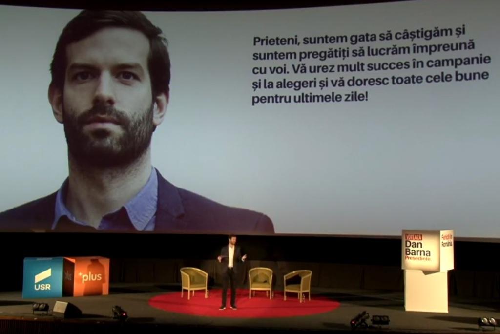 A Momentum elnöke Kolozsváron kampányolt Dan Barnanak