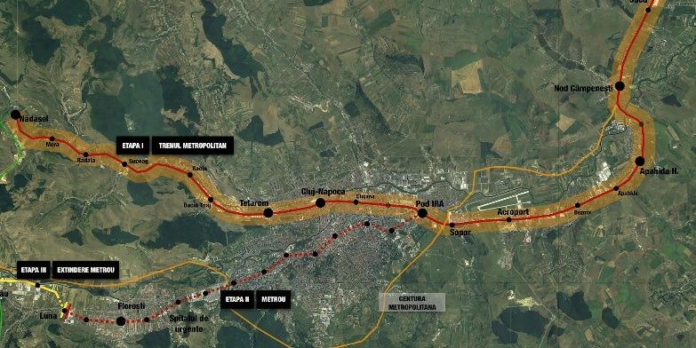 Kolozsvári metró: az első lépést megtették, nézze meg, hol fog közlekedni