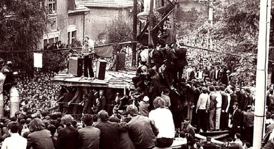 Az 1977-es bányászsztrájkkor készült felvétel | Fototeca online a comunismului