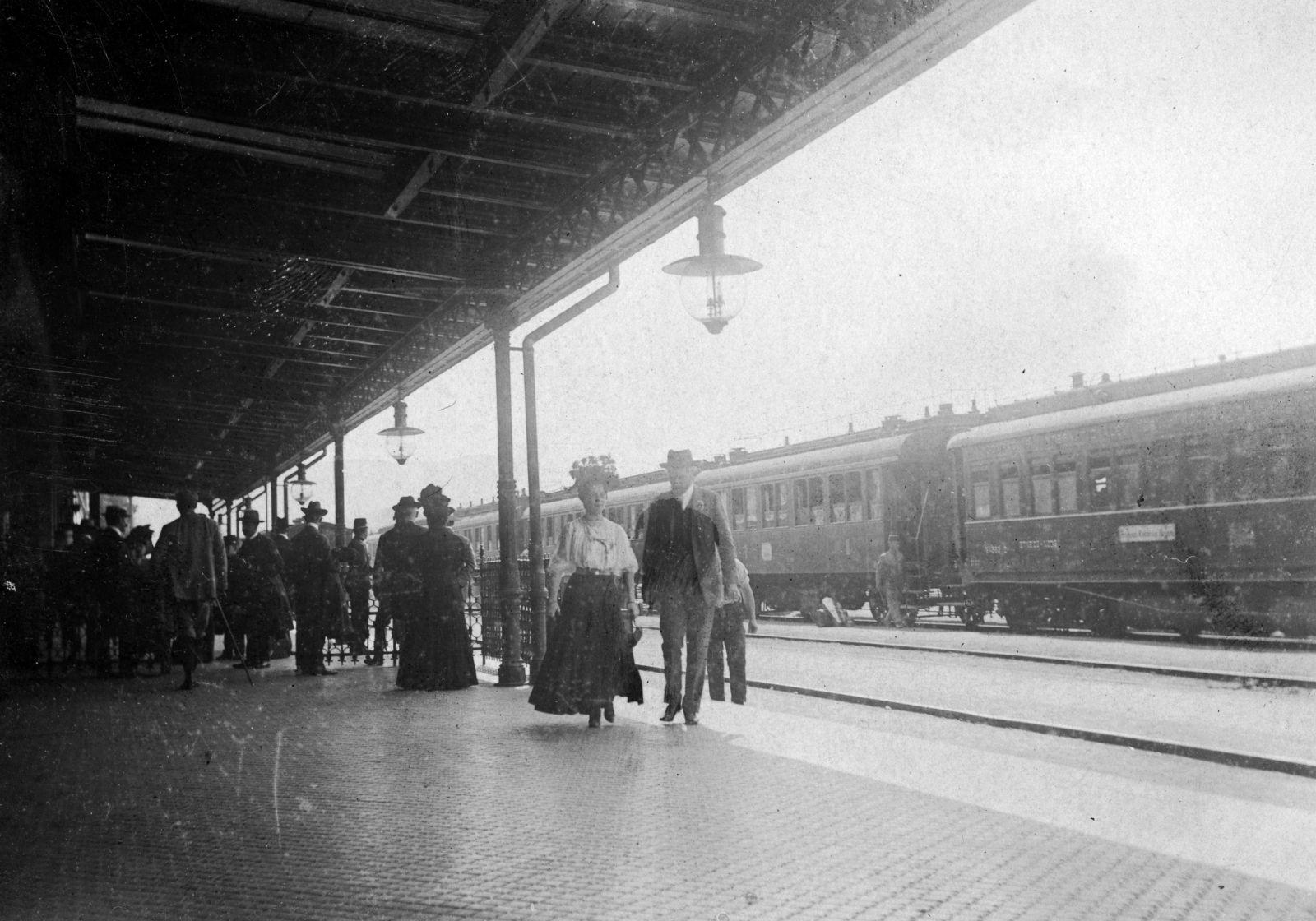 A brassói pályaudvar 1918-ban | Forrás: Fortepan