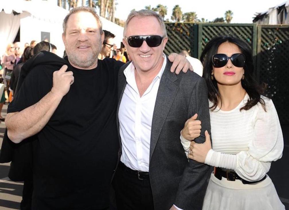 Harvey Weinstein, Francois Pinault (Salma Hayek férje) és Hayek 2013-ban | Fotó forrása: newyorkdailynews.com