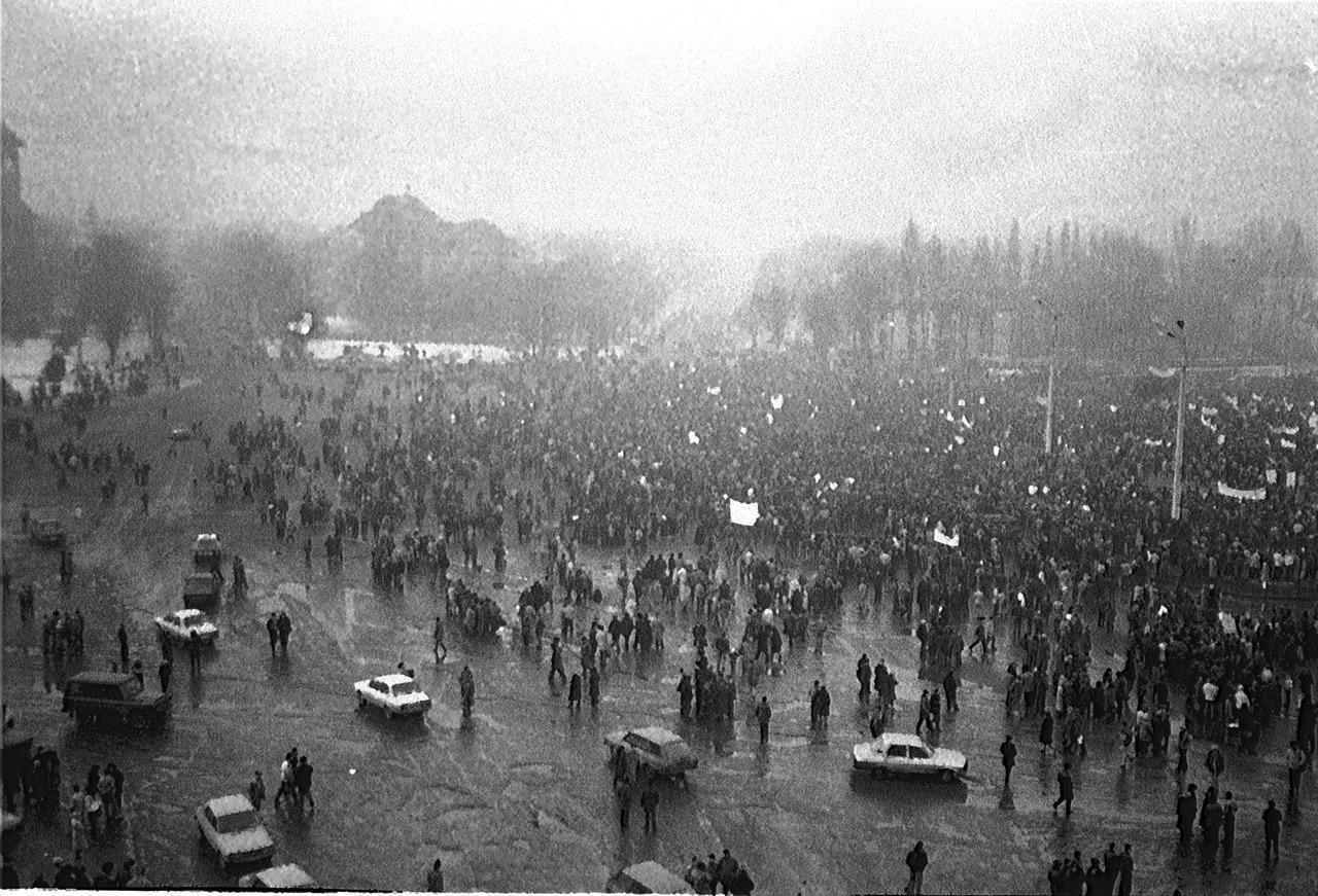 Az első bányászsztrájk 1990 januárjában | Forrás: Wikipédia