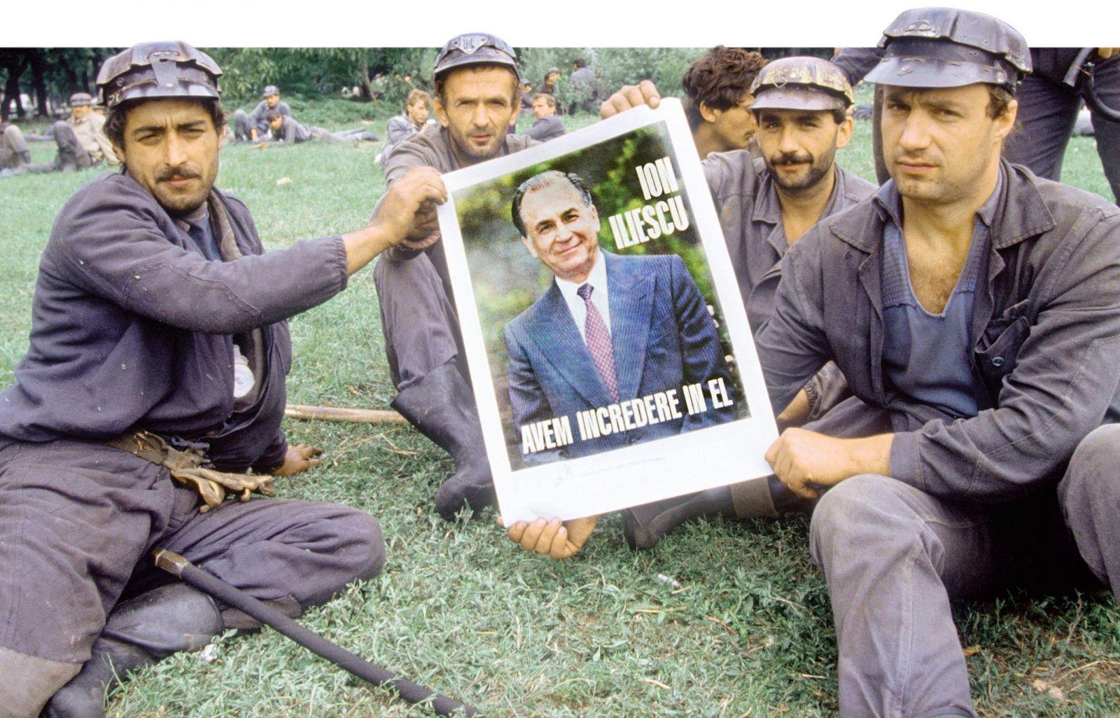 1991 szeptemberében a negyedik bányászjárás alkalmával | Forrás: iiccr.ro