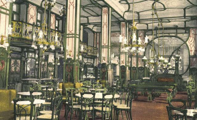 Az EMKE kávéház, az első Lédával töltött est helyszíne
