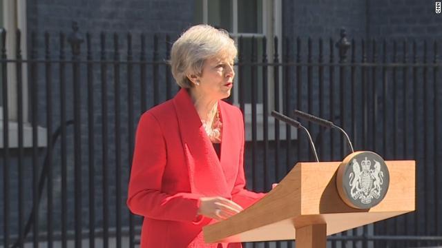 Theresa May brit miniszterelnök bejelentette lemondását