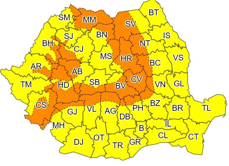 Forrás: meteoromania.ro