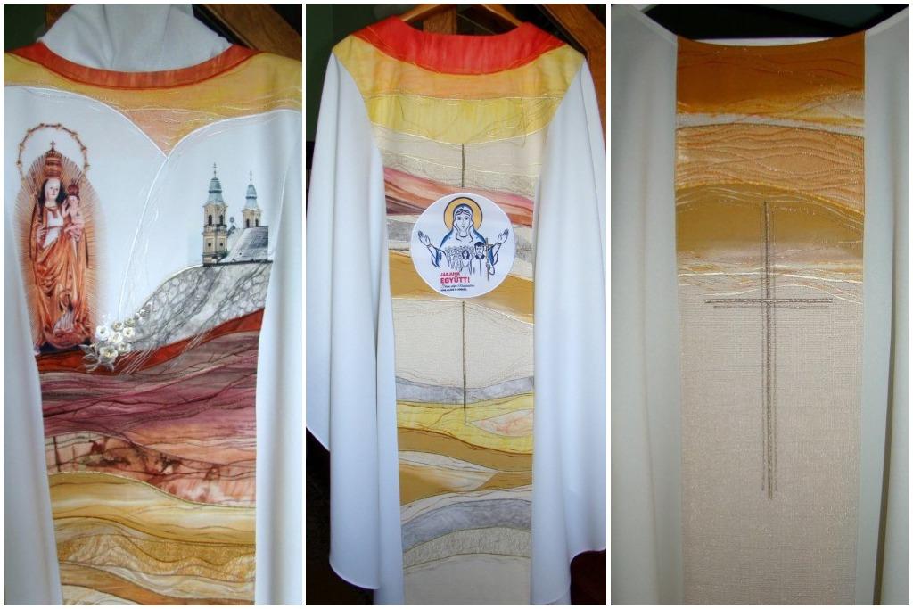 Így néz ki Ferenc pápa miseruhája, amit Csíksomlyón fog hordani