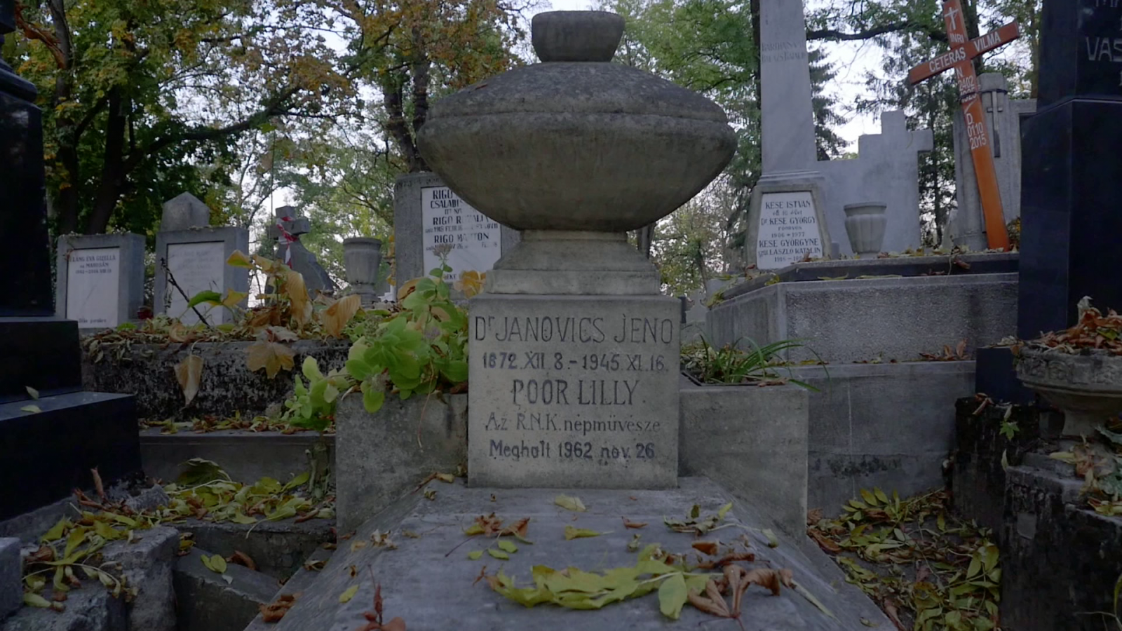 Janovics Jenő és Poór Lili sírja a Házsongárdi temetőben